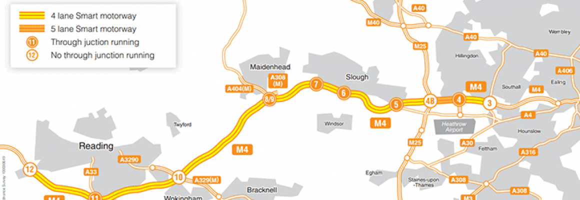 M4 Smart motorway to utilise concrete barriers